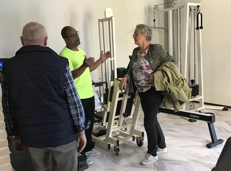 fitness ruimte in Brinkpark wonen en zorg complex voor ouderen